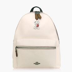 【COACH旅行必備】皮革 / 背包 / 後背包(米奇限定款)_白色