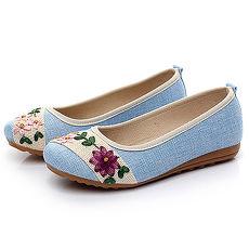 【Alice韩系馆】Y1422 波西米亚风格优质亚麻进口鞋- 预购