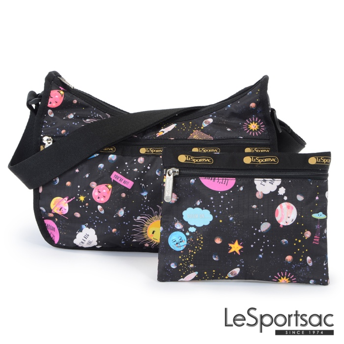 LeSportsac - Standard側背水餃包/流浪包-附化妝包 (星球寶寶)