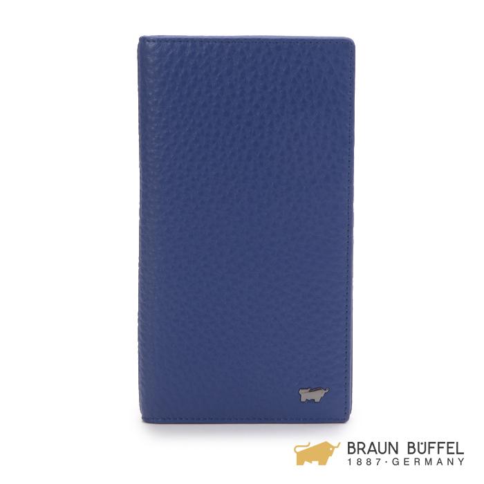 【BRAUN BUFFEL】OSLO奧斯陸系列長夾 -鳶尾藍 BF195-333-IR