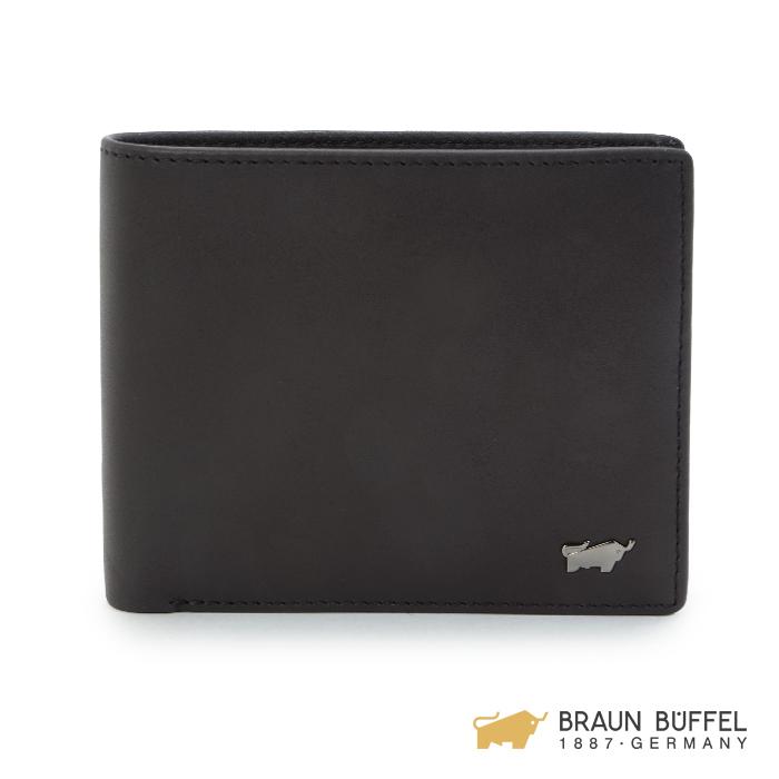 【BRAUN BUFFEL】漢斯系列12卡中間翻皮夾 -摩卡棕 BF196-317-CO