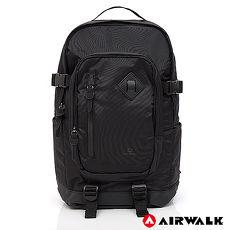 AIRWALK – 都市系列 多功能調節式運動筆電後背包-黑-A755321020