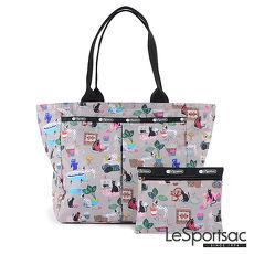 LeSportsac - Standard大手提水餃包-附化妝包(毛孩愛搗蛋)