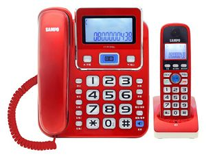 SAMPO聲寶 2.4GHz高頻數位無線電話 CT-W1304DL(紅)