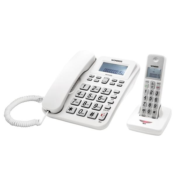 WONDER旺德 2.4G高頻數位無線電話 WD-9102D(白)