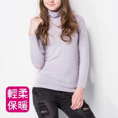 【MORINO摩力諾】極暖發熱長袖高領衫(女)-灰色