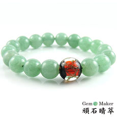 【GemMaker頑石睛萃】綠東菱琉璃手珠