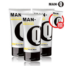 福利品【MAN-Q】M2檸檬控油洗面乳超值3入組-活動
