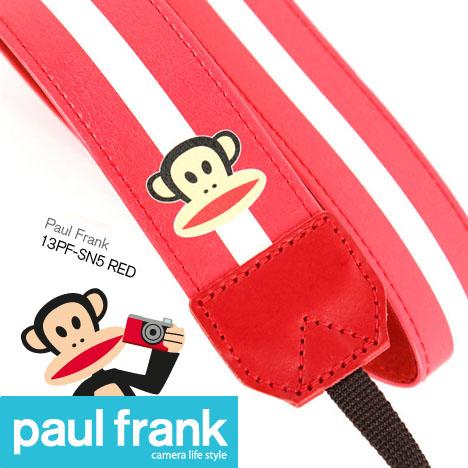 Paul Frank 大嘴猴 DSLR 單眼相機背帶系列-[條紋紅/PF13PF-SN5-R]
