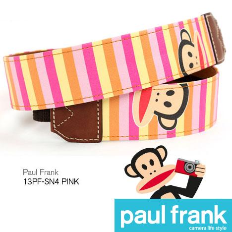 Paul Frank 大嘴猴 DSLR 單眼相機背帶系列-彩色條紋-粉紅/PF13PF-SN4-P