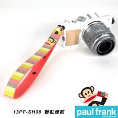 Paul Frank 類單及小型數位相機手腕帶系列-小DC寬版手腕帶[PF13PF-SH08-P/粉紅條紋]