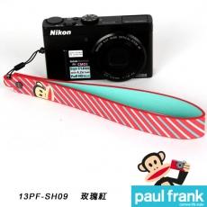 Paul Frank 類單及小型數位相機手腕帶系列-小DC寬版手腕帶[PF13PF-SH09/玫瑰紅]