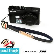Paul Frank類單及小型數位相機細版手腕帶系列-小DC窄版手腕帶[PFPF-SH01-BK/黑嘛嘛]