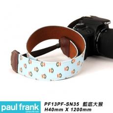 Paul Frank DSLR數位單眼相機背帶系列[13PF-SN35/藍底大猴]