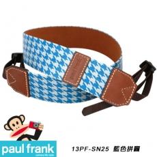 Paul Frank DSLR數位單眼相機背帶系列[PF13PF-SN25/藍色拼圖]