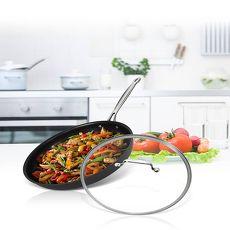 美國Cuisinart美膳雅 經典主廚不沾超硬陽極系列-單柄煎鍋28cm(622-28GTW)