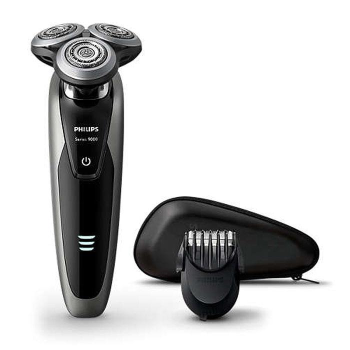 【飛利浦 PHILIPS】Shaver series 9000 頂級三刀頭乾濕兩用電鬍刀S9161