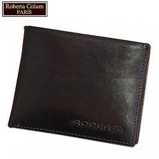 【Roberta諾貝達】男用皮夾 短夾 專櫃皮夾 進口苯染皮短夾 二色可選21731