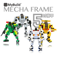 【MyBuild 積木】MIT首創設計-機甲戰隊MF5 (共四款可選)綠林遊騎兵(綠) MF05-