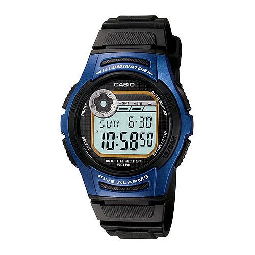 CASIO酷炫電小子膠帶運動錶(藍)