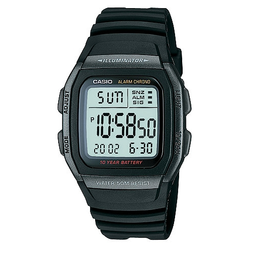 CASIO城市個性休閒電子錶(全黑)