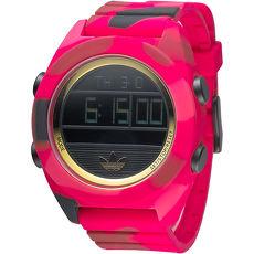 adidas  野生戰隊矽膠電子錶-黑面/紅(ADH2990)