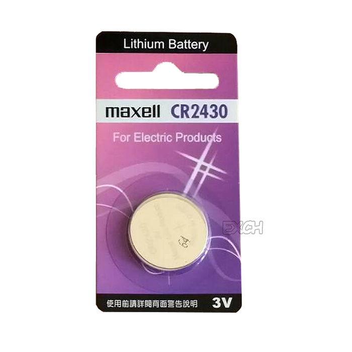 日本品牌水銀電池 maxell CR2430 鈕扣型水銀電池一組兩入