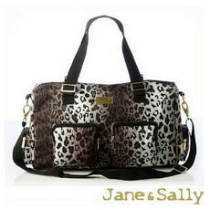 【Jane&Sally】Sports系列風尚運動包/旅行袋-豹紋