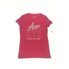AIU100【AERO】女款短袖T恤- NYC亮粉 8010粉M