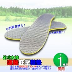足弓支撐運動舒壓鞋墊-男用1雙入