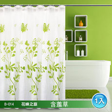 LISAN精選防水浴簾 B-014花映之旅 含羞草-1入
