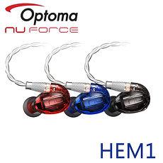 Optoma NuForce HEM1 可換線監聽級入耳式耳機藍色