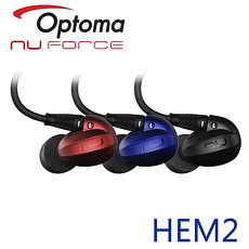 Optoma NuForce HEM2 可換線監聽級入耳式耳機藍色