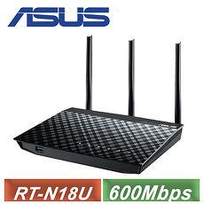 【ASUS 华硕】 RT-N18U 高效能无线分享器 ( 600Mbps )