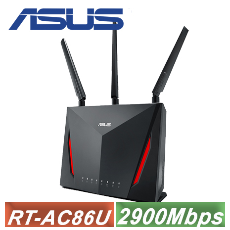 【促銷價】ASUS 華碩 RT-AC86U 雙頻無線路由器