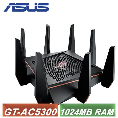 【ASUS 華碩】GT-AC5300 電競專用三頻分享路由器