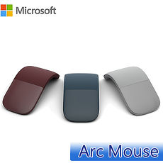 Microsoft 微軟 Surface Arc Mouse 藍牙滑鼠 (黑/灰/鈷藍/酒紅)