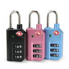旅遊首選、旅行用品 LY變色安全密碼海關鎖組合(三入)粉色+粉色+藍色(共3只