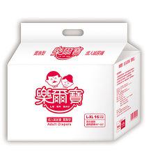 【樂爾寶】成人紙尿褲(實惠型)L-XL號16片 x 6包