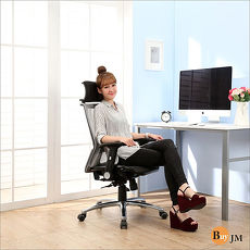 BuyJM現代風全網鋁合金腳高背辦公椅