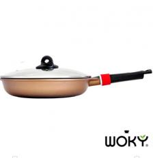WOKY沃廚-健康鑄造經典黃金28CM平煎鍋