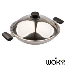 WOKY沃廚-超合金專利不鏽鋼39CM炒鍋