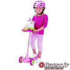 ▼送兒童安全帽▼【 美國 Razor 】Kuties Scooter-Unicorn二合一兒童可愛滑板車 - 獨角獸