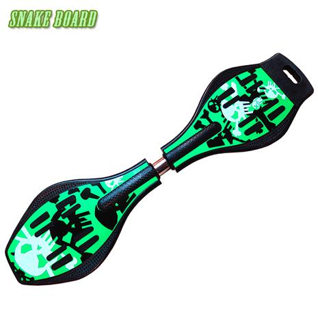 Snake board 滑行少年蛇板-ABS入門板-單純綠