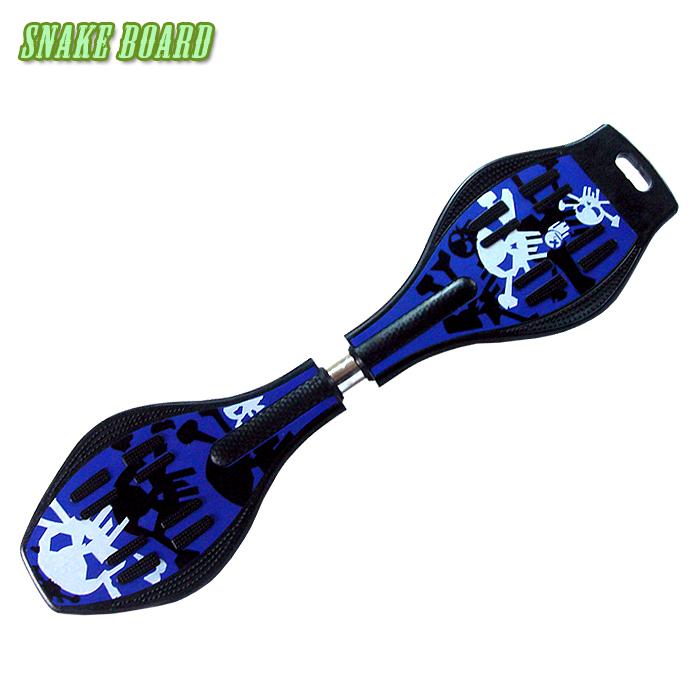 Snake board 滑行少年蛇板-ABS入門板-活力藍