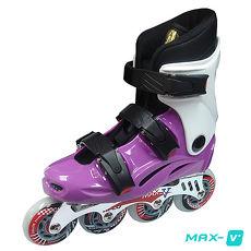 DLD V-MAX 鋁合金直排輪 紫白