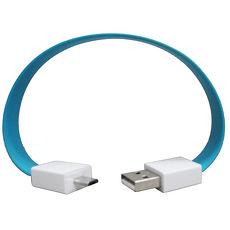 Micro USB 手環式充電傳輸線 2入 (顏色隨機出)
