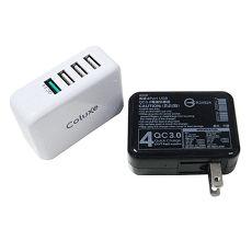 Coluxe 4 port USB QC3.0 电源供应充电器