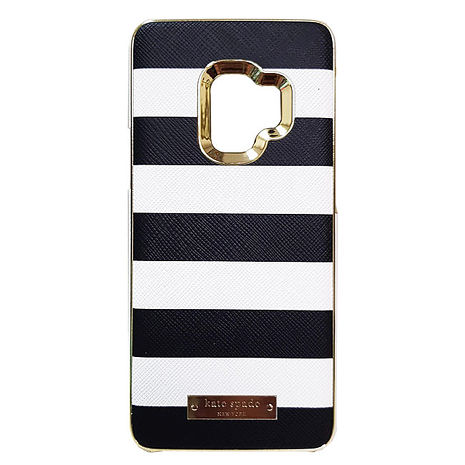 Kate Spade 黑白條紋硬式保護殼-Samsung Galaxy S9+ 專用