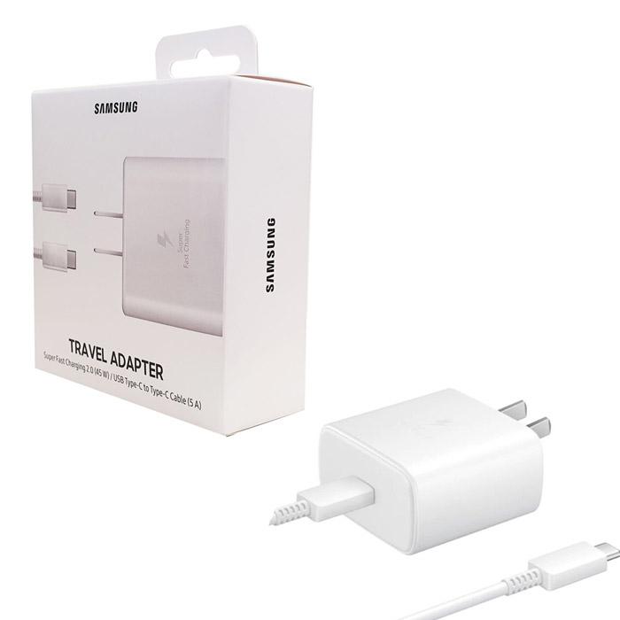 【原廠盒裝】Samsung 原廠45W快充組(旅充頭+Type C 傳輸線) EP-TA845【白】